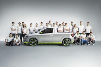 Škoda Azubi Cars vom Jahr 2014 bis 2019 :Citijet, Funstar, Atero, Element, Sunroq, Mountiaq. Copyright: Škoda